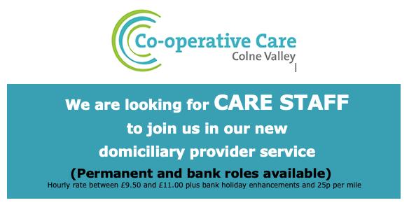Cooperative Care Colne Valley Staff recruitment
