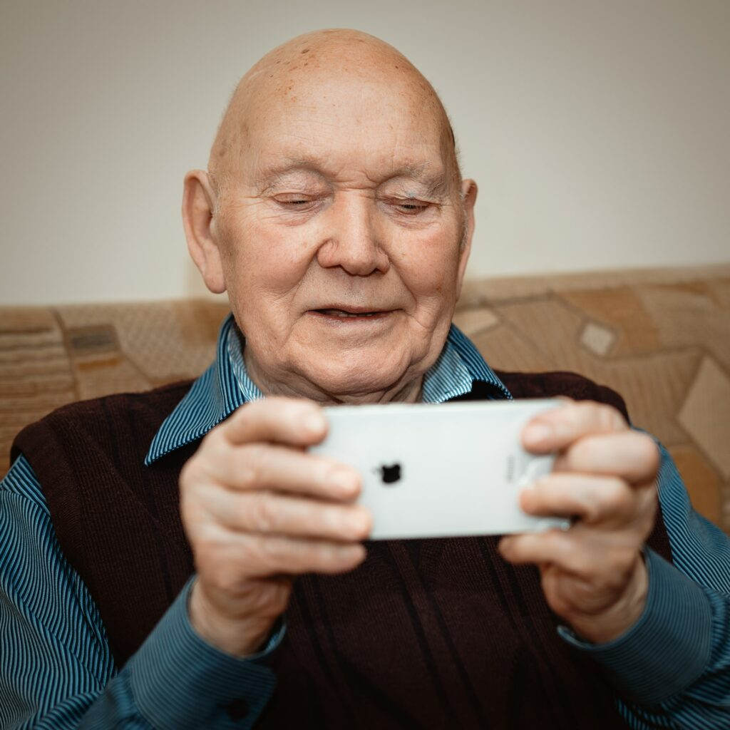 Photograph of an elderly man to show an aspect of home care in the Colne Valley Huddersfield Kirklees