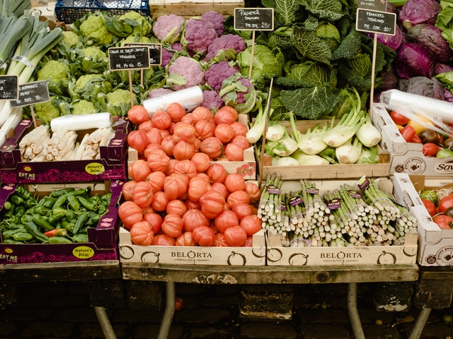 Image of vegetable stalls for Colne Valley Care Shopping Service