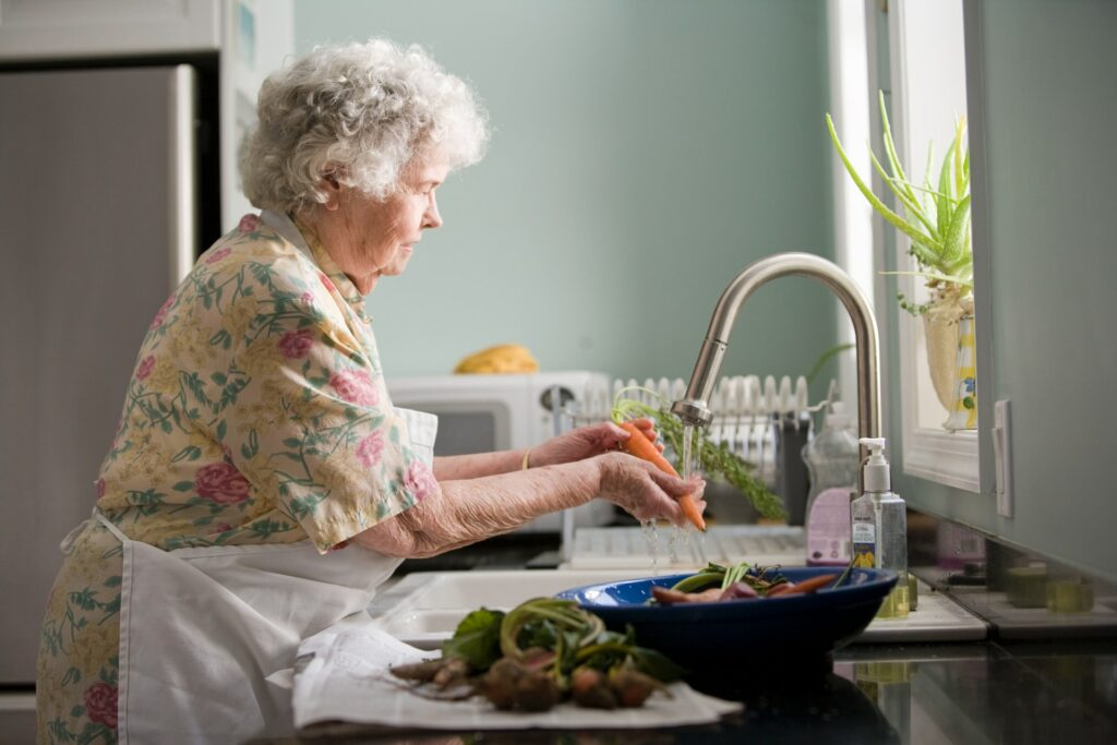 Photograph of an elderly woman to show an aspect of home care in the Colne Valley Huddersfield Kirklees