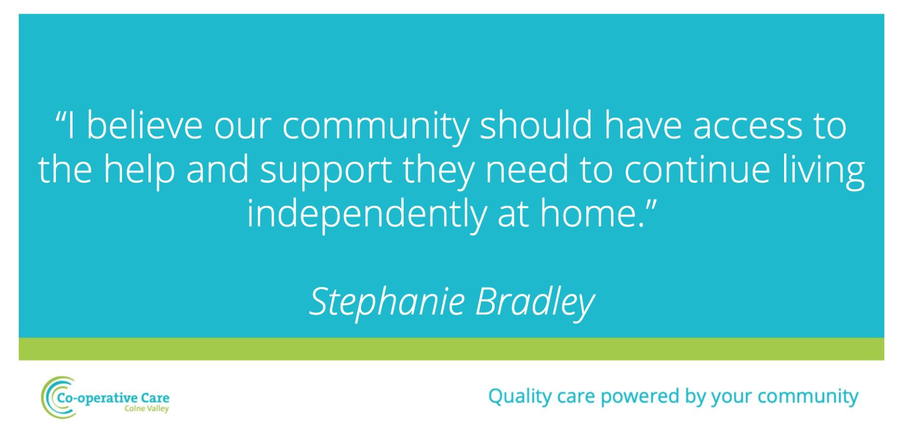 Stephanie Bradley Team Spotlight Cooperative Care Colne Valley