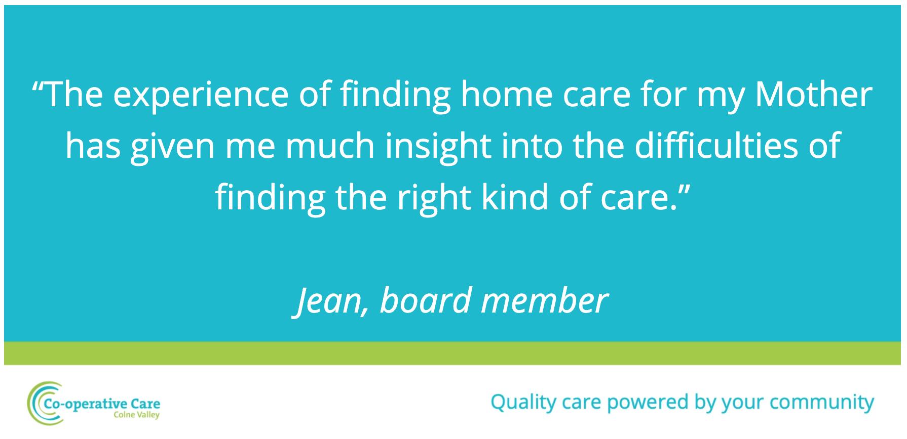 Team spotlight on sourcing home care
