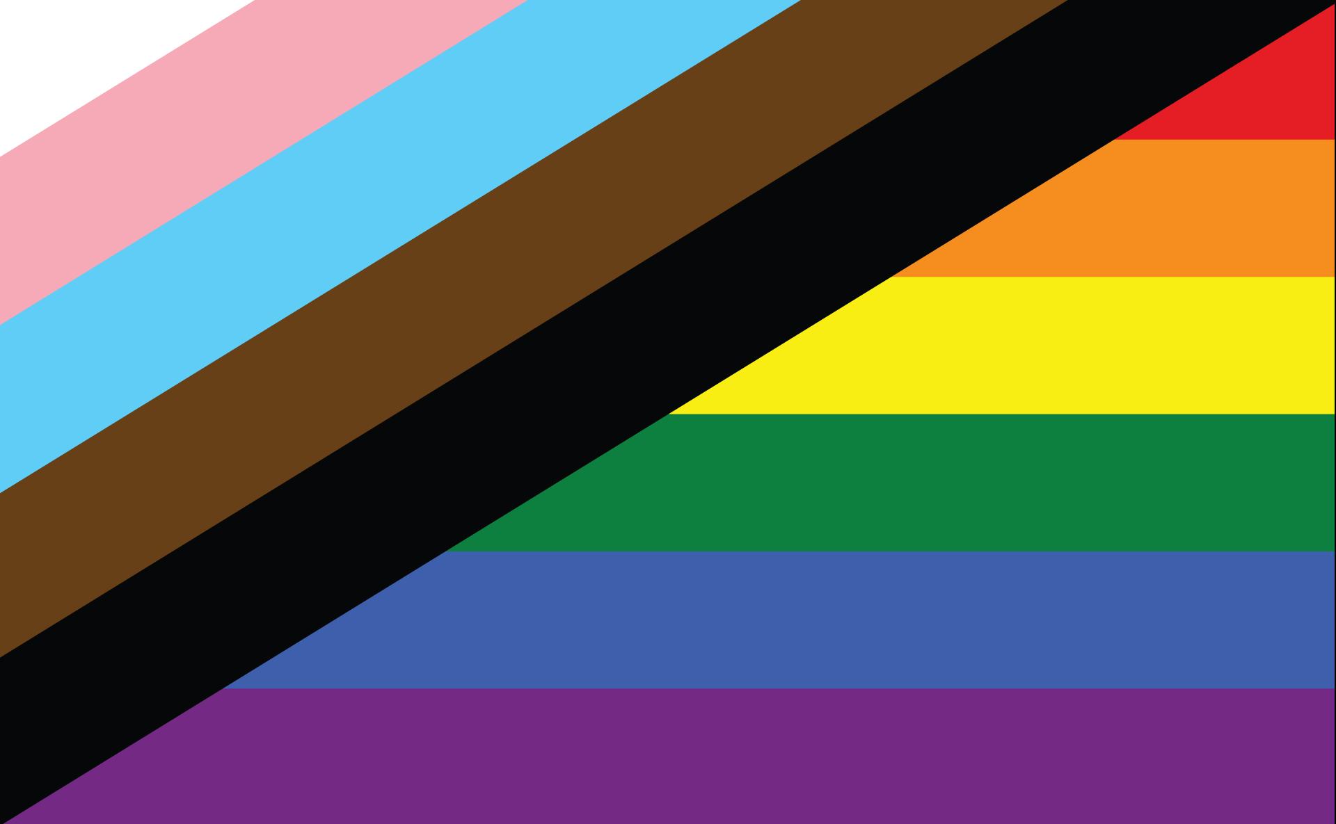 New Pride LGBT+ flag social care blog post